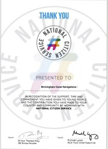 The NCS Parter Certificate from 2017