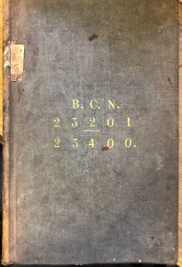 The front cover of BCN gauge book 23201 to 23400
