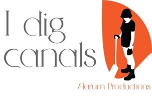 "Logo of ""I dig Cana;s"" by Alarum Productions"