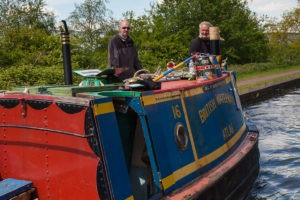 "BCNS-owned ex-British Waterways working boat ""Atlas"" at the BCNS Marathon Challenge 2013"