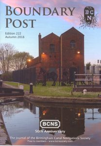 "Cover of The BCNS publication ""Boundary Post"", issue 222"