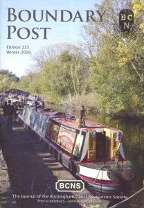 "Cover of The BCNS publication ""Boundary Post"", issue 223"