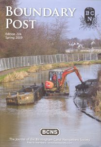 "Cover of The BCNS publication ""Boundary Post"", issue 224"