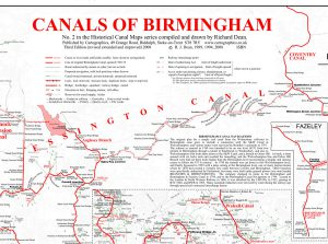 Canals of Birmingham - historic map by Richard Dean