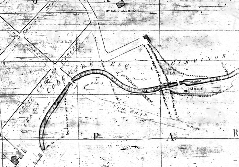 Snapes Map of the BCN Newhall Branch from 1777