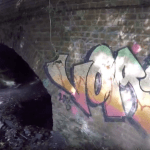Bridge over the derelict Slough Arm, Wyrley & Essington Canal. Screenshot from Canal Hunter video series 3, part 1