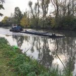 CRT dredger on Titford Pools