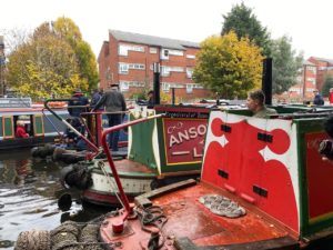 Boats gathering on the New Main Line for the 250 years celebrations of the Birmingham Canal Navigations