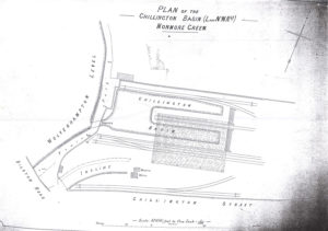 Plan of Chillington Basin (Monmore Green) from LNWR times, with still two basins