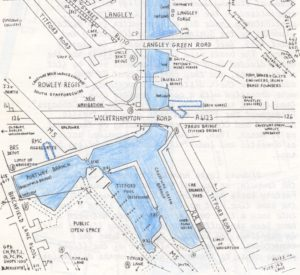 Portway Branch, Titford Pools, Titford Canal - from the IWA BCN Blue Book